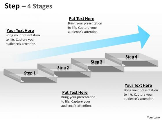 Marketing Diagram Four Steps Of Business Process Consulting Diagram
