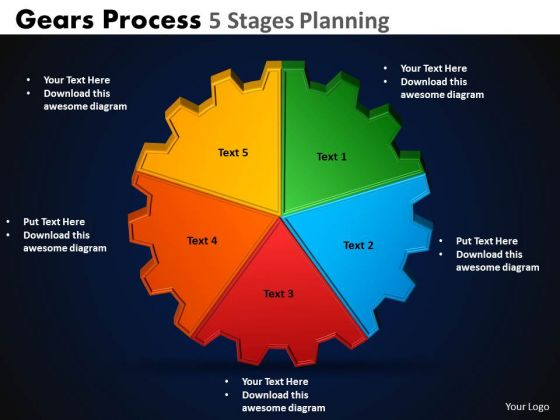 Marketing Diagram Gears Process 5 Stages Planning Sales Diagram