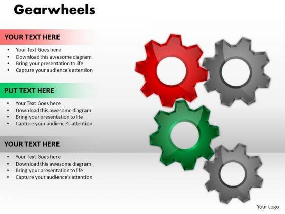 Marketing Diagram Gearwheels Sales Diagram