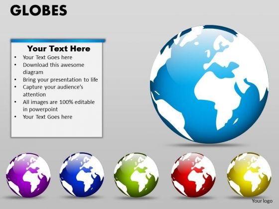Marketing Diagram Globes Business Finance Strategy Development