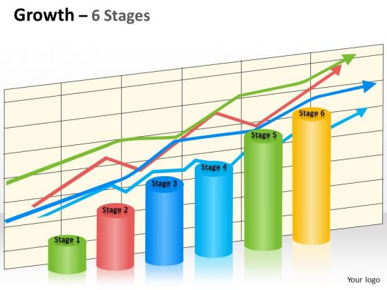 Marketing Diagram Growth 6 Stages Business Diagram