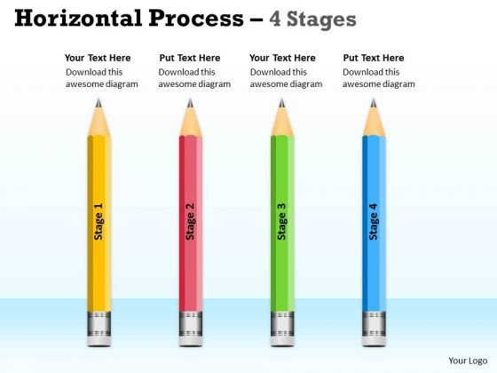 Marketing Diagram Horizontal Process 4 Stages Ppt Diagram Mba Models And Frameworks