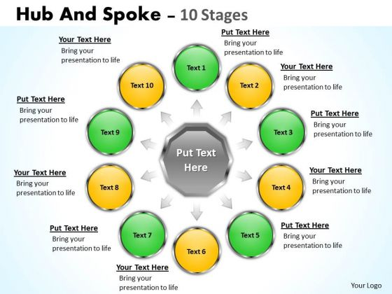 Marketing Diagram Hub And Spoke 10 Stages Consulting Diagram