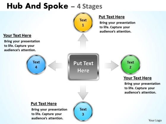 Marketing Diagram Hub And Spoke 4 Stages Consulting Diagram