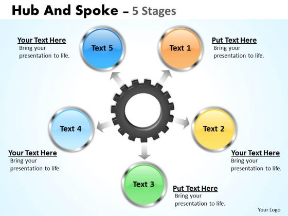 Marketing Diagram Hub And Spoke 5 Stages Consulting Diagram
