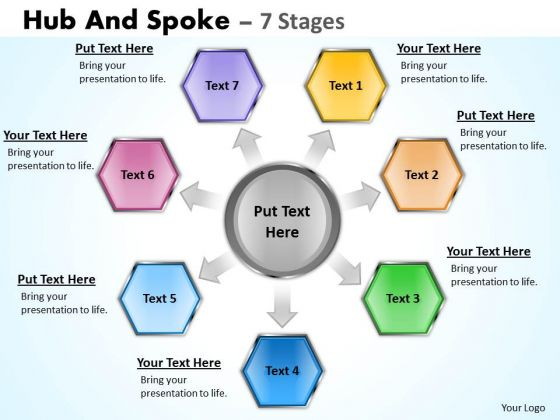 Marketing Diagram Hub And Spoke 7 Stages Sales Diagram