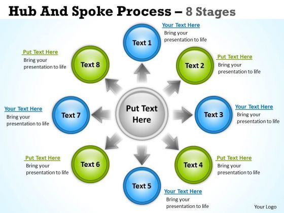 Marketing Diagram Hub And Spoke Process 8 Stages Sales Diagram