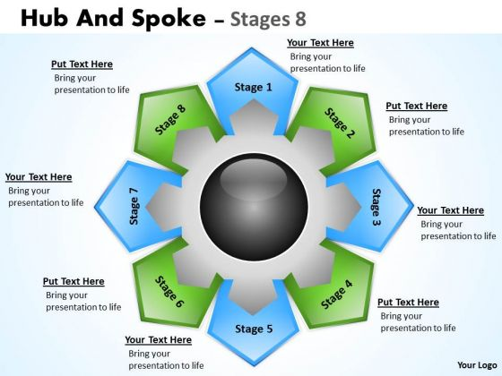 Marketing Diagram Hub And Spoke Stages Consulting Diagram