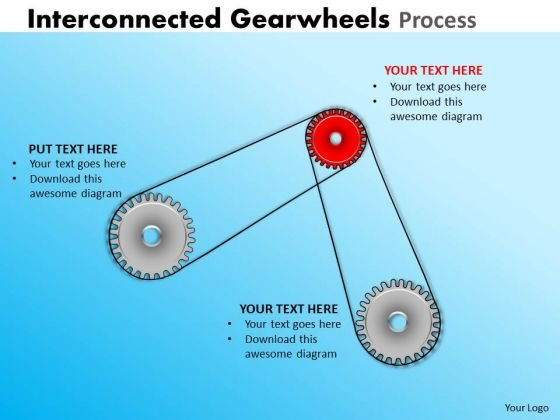 Marketing Diagram Interconnected Gearwheels Process Consulting Diagram