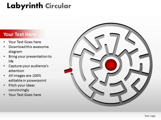 Marketing Diagram Labyrinth Circular Business Finance Strategy Development