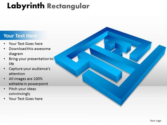 Marketing Diagram Labyrinth Rectangular Ppt 13 Blue Modal Business Cycle Diagram