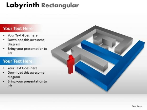 Marketing Diagram Labyrinth Rectangular Sales Diagram