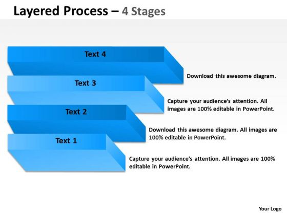 Marketing Diagram Layered Process With 4 Stages Consulting Diagram