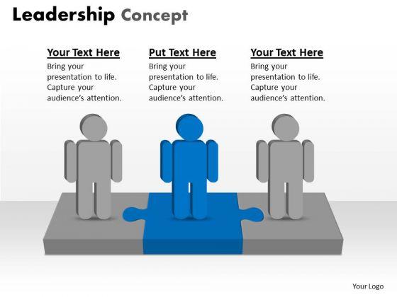 Marketing Diagram Leadership Concept 3 Stages Business Framework Model