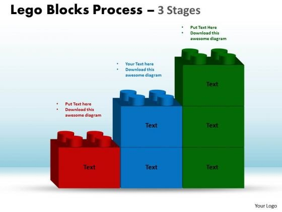 Marketing Diagram Lego Blocks Process 3 Stages Strategy Diagram
