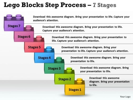 Marketing Diagram Lego Blocks Step Process 7 Stages Business Framework Model