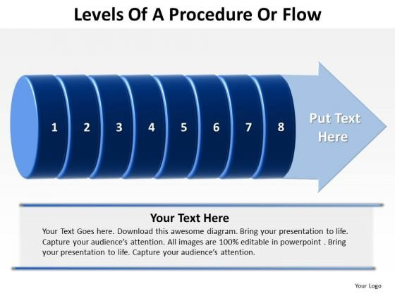 Marketing Diagram Levels Of A Procedure Or Flow 8 Stages Sales Diagram