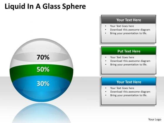 Marketing Diagram Liquid In A Glass Sphere Diagram Ppt Business Diagram