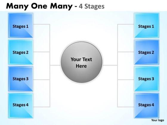 Marketing Diagram Many One Many 4 Step Strategy Diagram