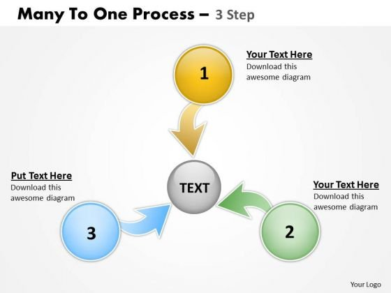 Marketing Diagram Many To One Process 3 Step 3 Consulting Diagram