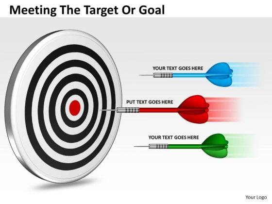 Marketing Diagram Meeting The Target Or Goal Sales Diagram
