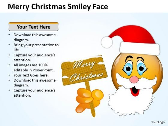 Marketing Diagram Merry Christmas Smiley Face Strategic Management