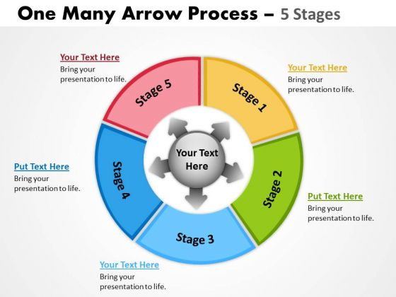 Marketing Diagram One Many Arrow Process 5 Stages Mba Models And Frameworks