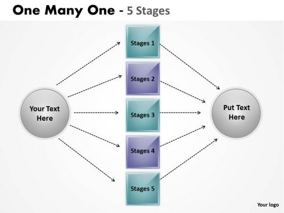 Marketing Diagram One Many One 5 Step Strategy Diagram