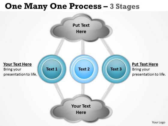 Marketing Diagram One Many One Process 3 Stages Strategic Management