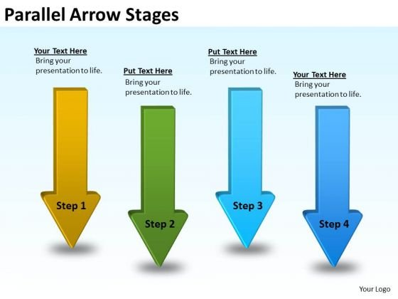 Marketing Diagram Parallel Arrow Stages Mba Models And Frameworks