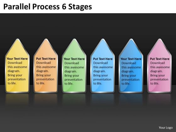 Marketing Diagram Parallel Process 6 Stages Business Diagram