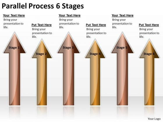Marketing Diagram Parallel Process 6 Stages Strategy Diagram