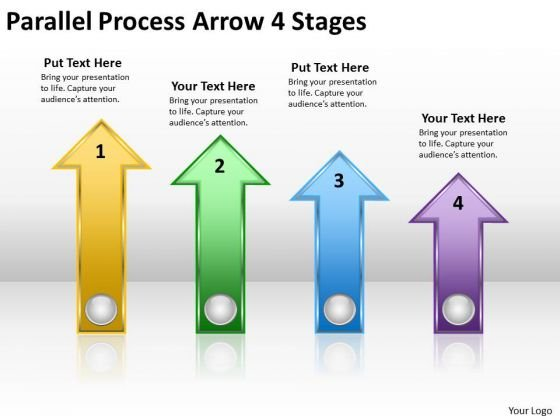 Marketing Diagram Parallel Process Arrow 4 Stages Strategy Diagram