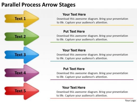 Marketing Diagram Parallel Process Arrow Stages Business Cycle Diagram