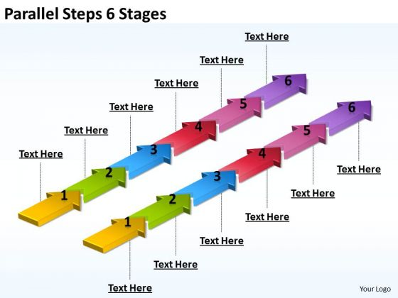 Marketing Diagram Parallel Steps 6 Stages Strategic Management