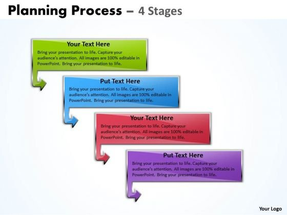 Marketing Diagram Planning Process Diagram With 4 Stages Strategy Diagram