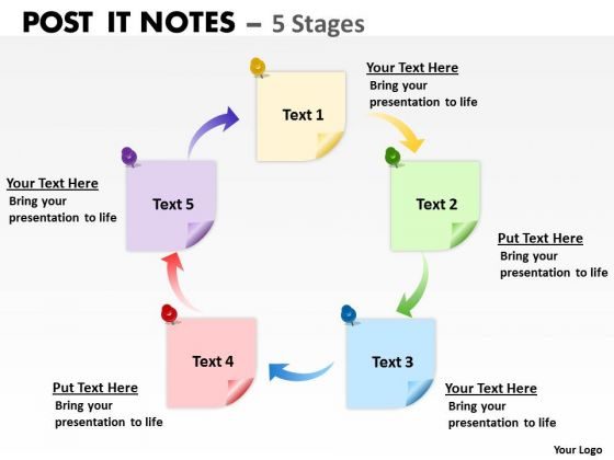 Marketing Diagram Post It Notes 5 Stages Consulting Diagram