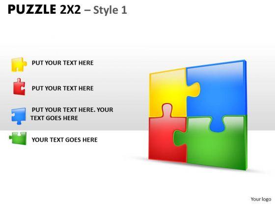 Marketing Diagram Puzzle 2x2 Style 1 Consulting Diagram