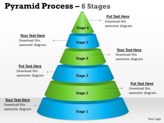 Marketing Diagram Pyramid Process 6 Stages For Strategy Consulting Diagram