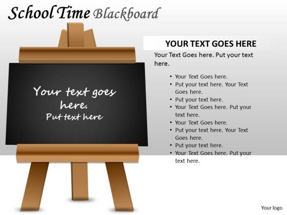 Marketing Diagram School Time Blackboard Business Diagram