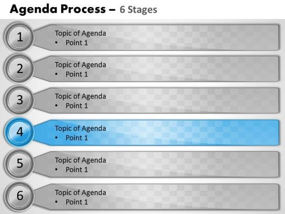 Marketing Diagram Six Staged Business Agenda Consulting Diagram