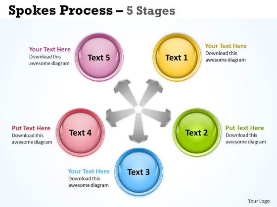 Marketing Diagram Spokes Process 5 Stages Sales Diagram