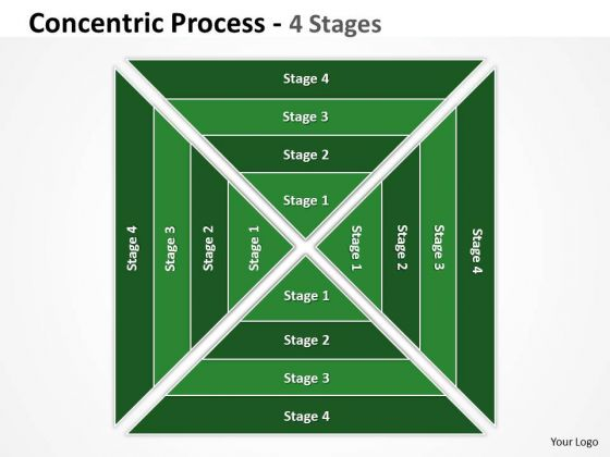Marketing Diagram Sqaure Concentric Process Strategy Diagram
