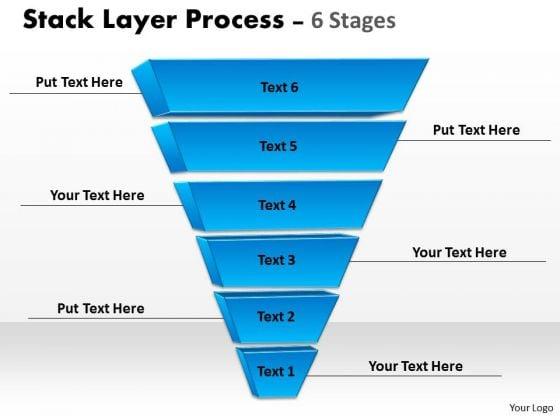 Marketing Diagram Stack Layer 6 Blue Shape Strategic Management