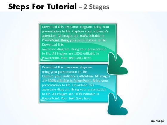 Marketing Diagram Steps For Tutorial 2 Stages Sales Diagram
