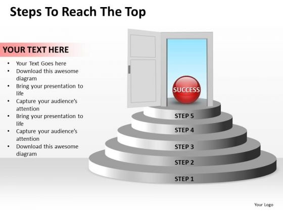 Marketing Diagram Steps To Reach The Top Editable Sales Consulting Diagram