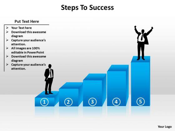 Marketing Diagram Steps To Success Business Framework Model