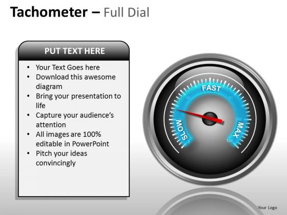 Marketing Diagram Tachometer Full Dial Business Diagram
