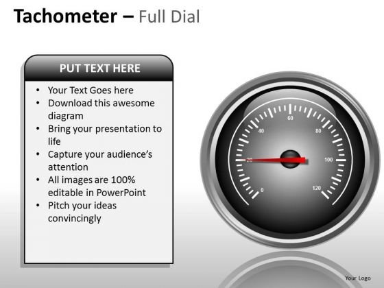 Marketing Diagram Tachometer Full Dial Sales Diagram