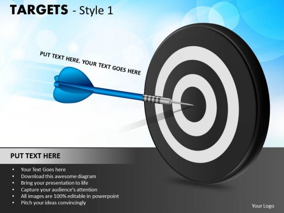 Marketing Diagram Targets Style 1 Sales Diagram